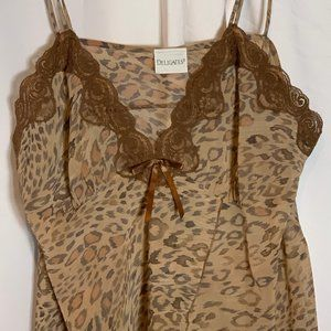 Delicates sheer leopard print chemise